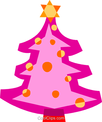 Christmas Trees Royalty Free Vector Clip Art illustration vc110648