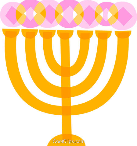 Menorahs Royalty Free Vector Clip Art illustration vc110667
