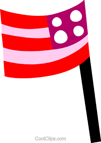 USA Flag Royalty Free Vector Clip Art illustration vc110673