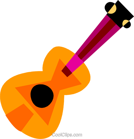 Acoustic Guitars Royalty Free Vector Clip Art illustration vc110681