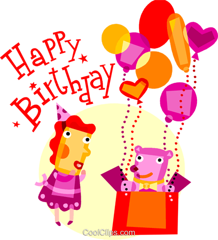Happy Birthday Royalty Free Vector Clip Art illustration vc110690