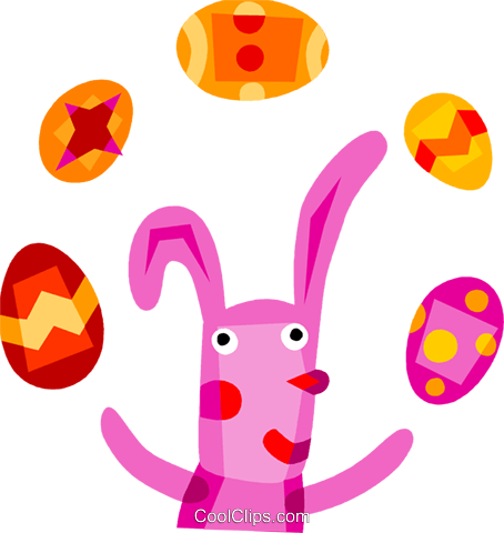 Easter Bunny Royalty Free Vector Clip Art illustration vc110711