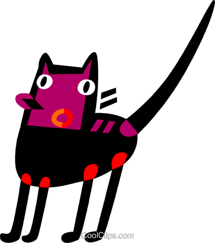 Black Cats Royalty Free Vector Clip Art illustration vc110723