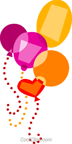Balloons Royalty Free Vector Clip Art illustration vc110727