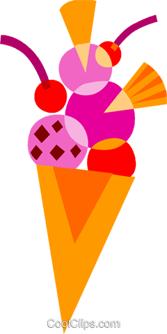 Ice Cream and Frozen Treats Royalty Free Vector Clip Art illustration vc110728