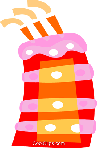 Birthday Cakes Royalty Free Vector Clip Art illustration vc110729
