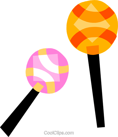Maracas Royalty Free Vector Clip Art illustration vc110738