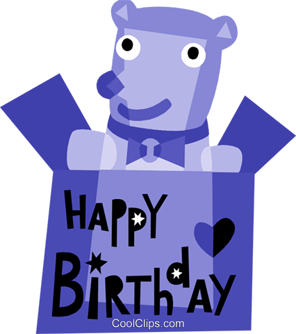 Birthday Presents Gifts Royalty Free Vector Clip Art illustration vc110822