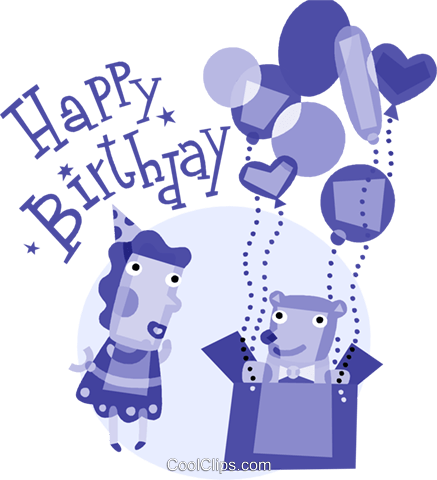 Birthday Greetings Royalty Free Vector Clip Art illustration vc110847