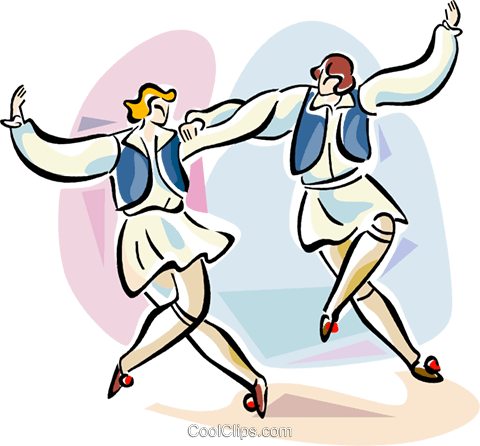 Syrtaki dance Royalty Free Vector Clip Art illustration vc110907