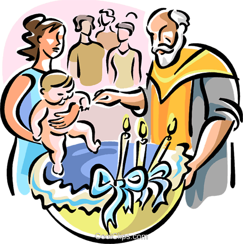 Orthodox baptism Royalty Free Vector Clip Art illustration vc110909