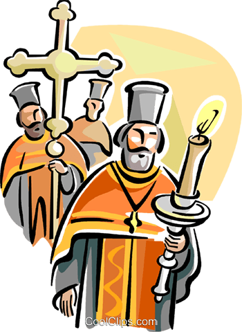 Orthodox procession Royalty Free Vector Clip Art illustration vc110910