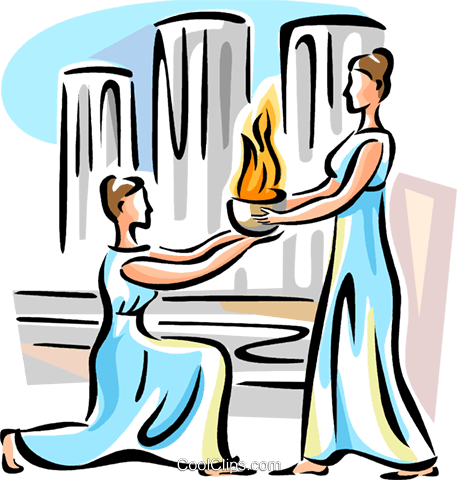 Olympic fire Royalty Free Vector Clip Art illustration vc110914