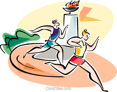 People running race Royalty Free Vector Clip Art illustration vc110921