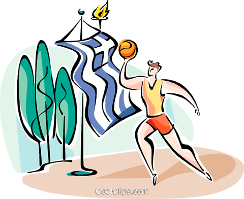 basketball player Royalty Free Vector Clip Art illustration vc110924