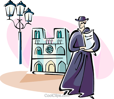Notre Dame, Paris Royalty Free Vector Clip Art illustration vc110947