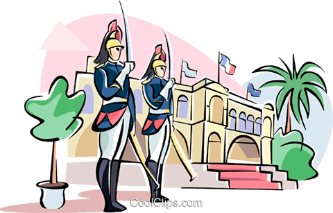 Republican guard Royalty Free Vector Clip Art illustration vc110952