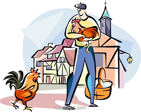 French farmer Royalty Free Vector Clip Art illustration vc110954