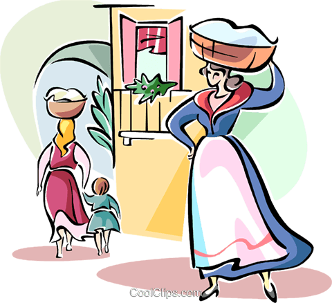 Italian women Royalty Free Vector Clip Art illustration vc110972