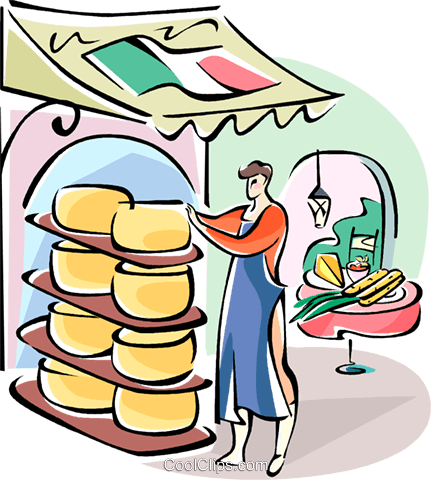 Italian cheese maker Royalty Free Vector Clip Art illustration vc110975