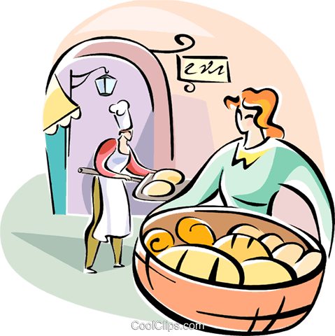 Italian bakery Royalty Free Vector Clip Art illustration vc110976