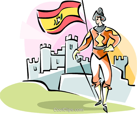 Conquistador Royalty Free Vector Clip Art illustration vc111003