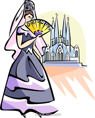 "Antonio Gaudy ""Sagrada Familia"" Royalty Free Vector Clip Art illustration vc111013"