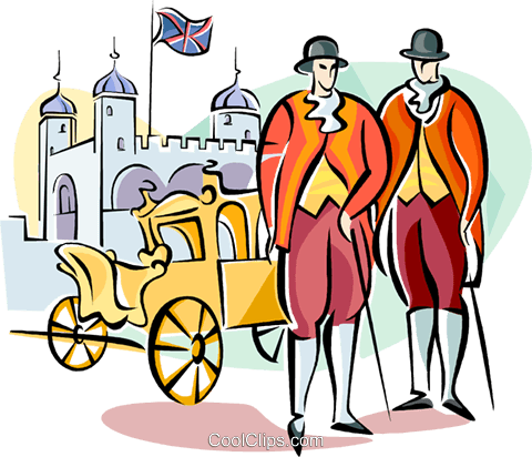Englishmen in traditional dress Royalty Free Vector Clip Art illustration vc111024