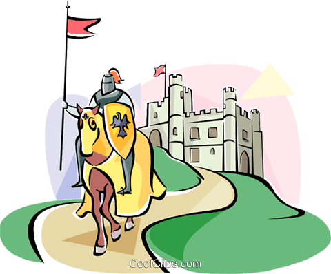 English Knight Royalty Free Vector Clip Art illustration vc111038