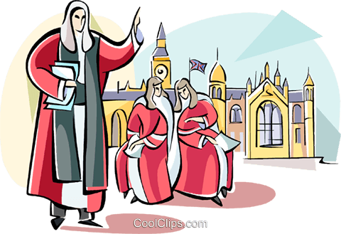 English Judge Royalty Free Vector Clip Art illustration vc111045