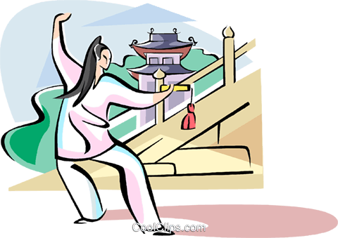 Tai-chi Royalty Free Vector Clip Art illustration vc111051