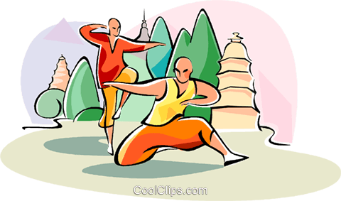 Chinese martial arts Royalty Free Vector Clip Art illustration vc111064