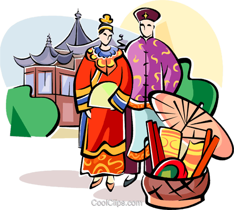 traditional Chinese wedding Royalty Free Vector Clip Art illustration vc111069