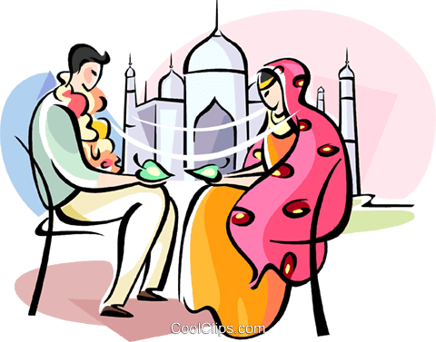 Wedding Ceremony in India Royalty Free Vector Clip Art illustration vc111099