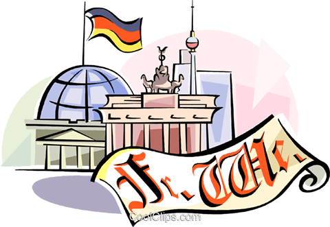 German montage Royalty Free Vector Clip Art illustration vc111113