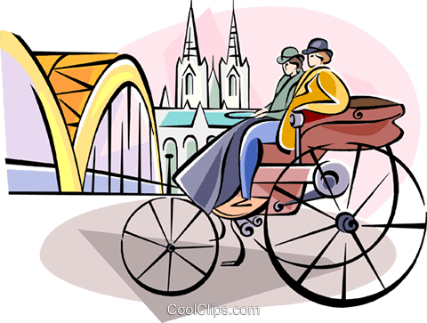 transportation inventor Karl Benz Royalty Free Vector Clip Art illustration vc111116