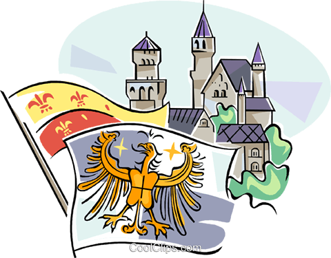 German historical heraldic flags Royalty Free Vector Clip Art illustration vc111124