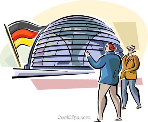 Berlin Reichstag Royalty Free Vector Clip Art illustration vc111125