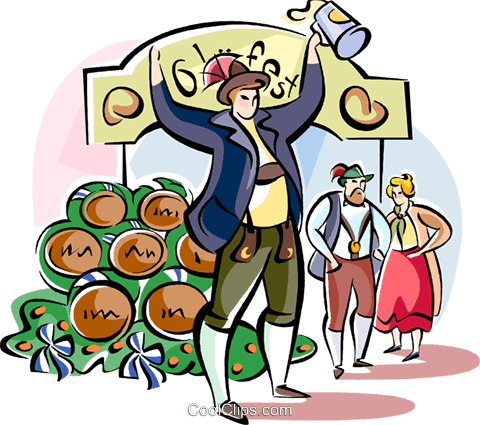 Oktoberfest Royalty Free Vector Clip Art illustration vc111127