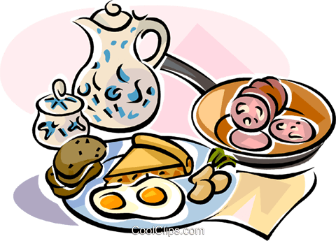 German breakfast Royalty Free Vector Clip Art illustration vc111129
