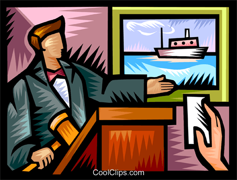 Auctioneer with a bid Royalty Free Vector Clip Art illustration vc111133