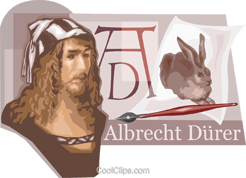 Albrecht Durer Artist Royalty Free Vector Clip Art illustration vc111136
