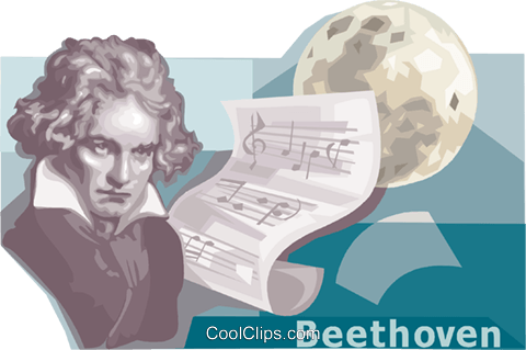 Ludwig van Beethoven Royalty Free Vector Clip Art illustration vc111137