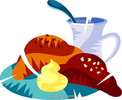 French breakfast Royalty Free Vector Clip Art illustration vc111143