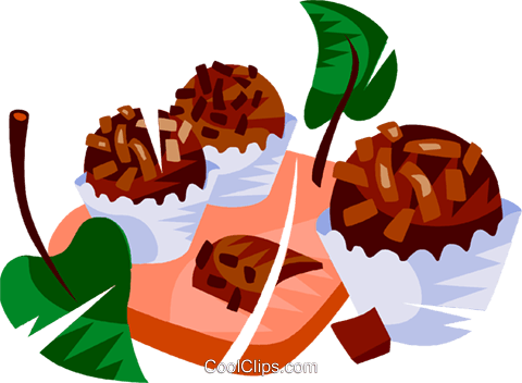 Brazilian chocolate fudge candy Royalty Free Vector Clip Art illustration vc111148