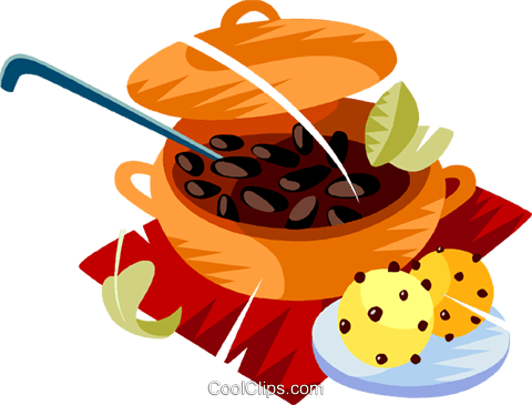 Brazilian national dish Royalty Free Vector Clip Art illustration vc111158
