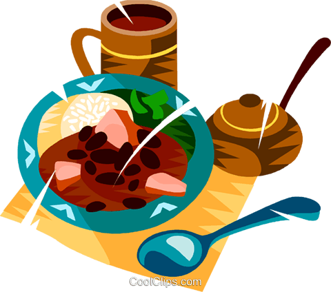 Brazilian national dish Royalty Free Vector Clip Art illustration vc111159