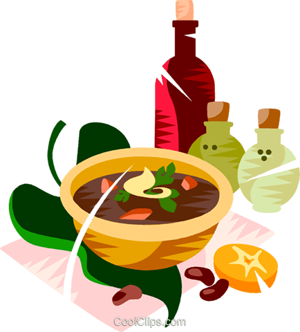 Brazilian black bean soup Royalty Free Vector Clip Art illustration vc111160