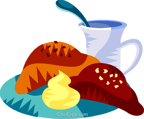 French breakfast Royalty Free Vector Clip Art illustration vc111167