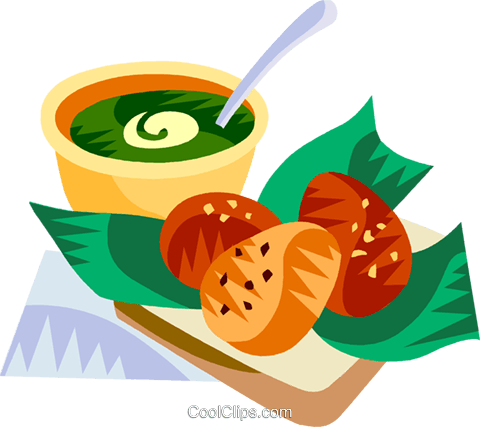 Acaraje, Brazilian deep fried pea cakes Royalty Free Vector Clip Art illustration vc111170
